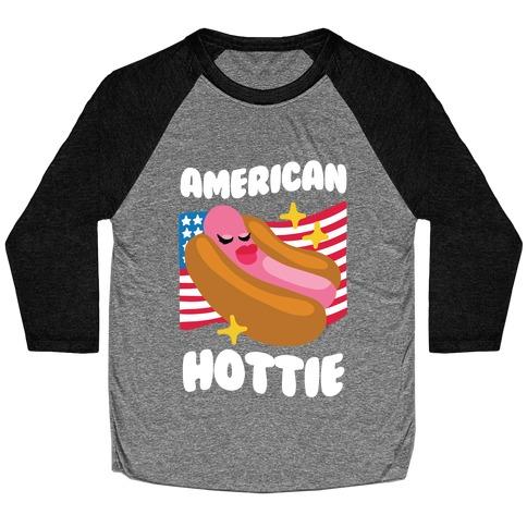 American Hottie (Hot Dog) Baseball Tee