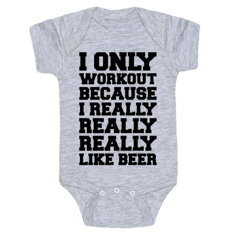 Beer Workout Baby Onesy