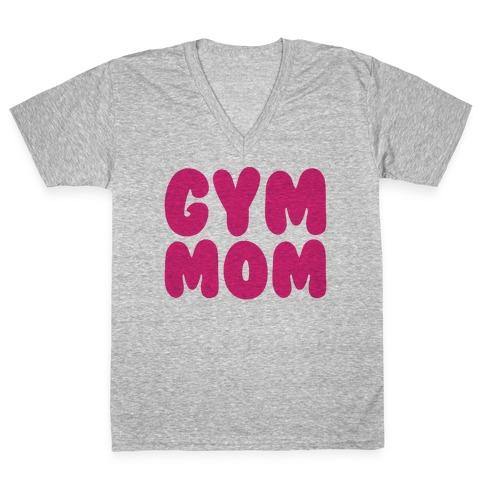 Gym Mom V-Neck Tee Shirt