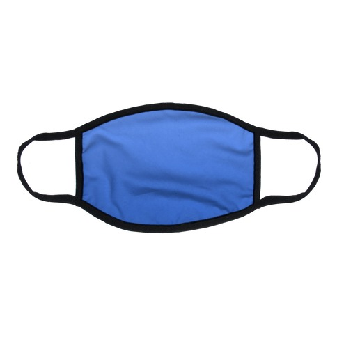 Blue Gradient Flat Face Mask
