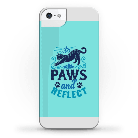 Paws And Reflect (Cat) Phone Case