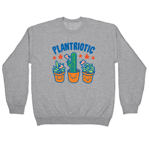 Plantriotic White Print Pullover