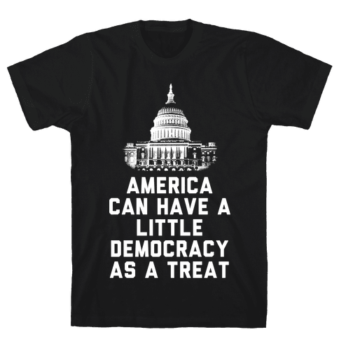 America Can Have a Little Democracy As a Treat Congress Mens/Unisex T-Shirt