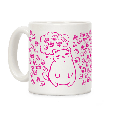Tubby Cat Food Dreams Coffee Mug