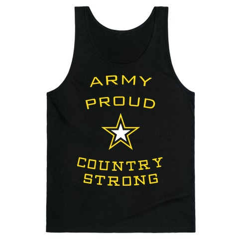 Army Proud Country Strong Tank Top