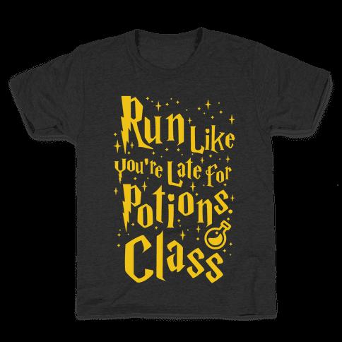 Run Like You're Late For Potions Class Kids T-Shirt