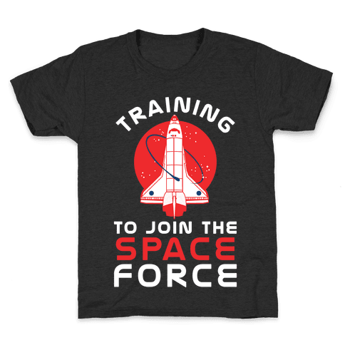 Training to Join the Space Force Kids T-Shirt