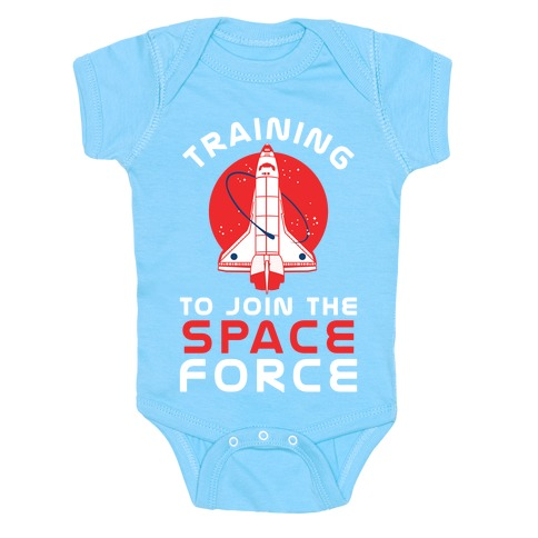 Training to Join the Space Force Baby Onesy