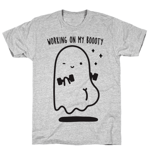 Working On My Boooty Ghost Mens T-Shirt
