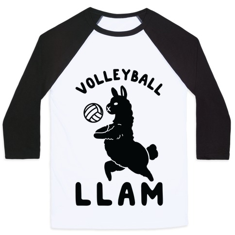 Volleyball Llam Baseball Tee