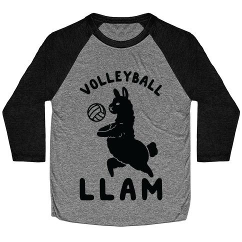 Volleyball Llam Baseball Tee