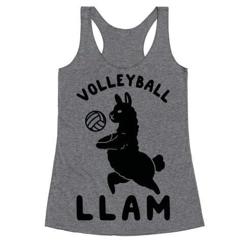 Volleyball Llam Racerback Tank Top