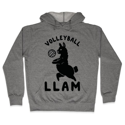 Volleyball Llam Hooded Sweatshirt