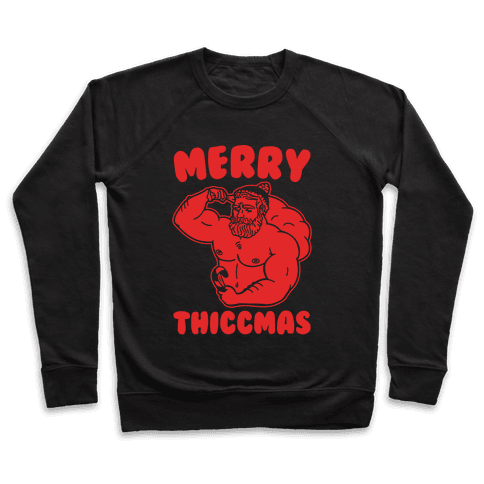 Merry Thiccmas Parody White PRint Pullover
