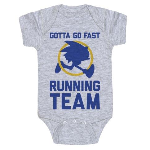 Gotta Go Fast Running Team Baby Onesy