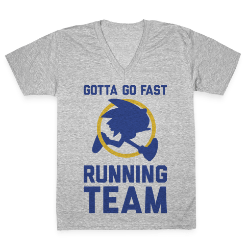 Gotta Go Fast Running Team V-Neck Tee Shirt
