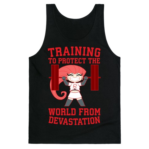 Training To Protect Our World From Devastation Tank Top