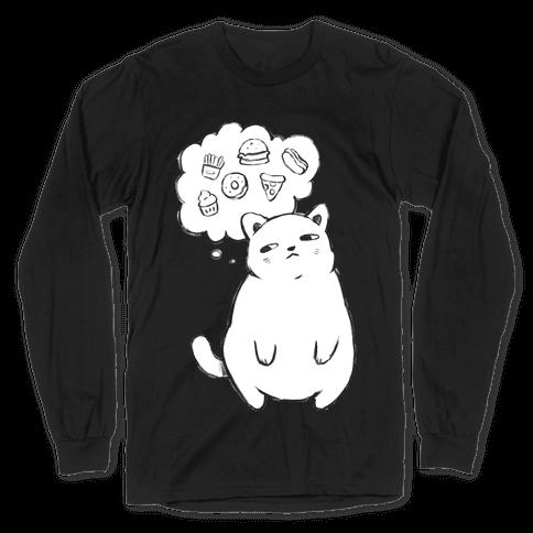 Tubby Cat Food Dreams Long Sleeve T-Shirt