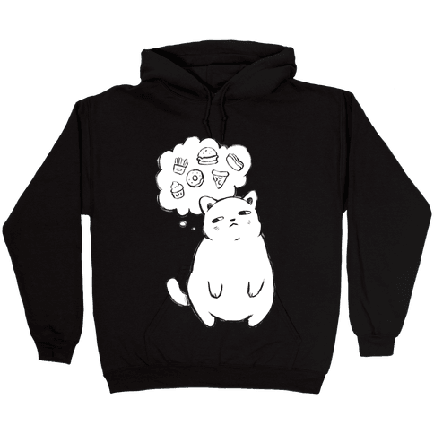 Tubby Cat Food Dreams Hooded Sweatshirt