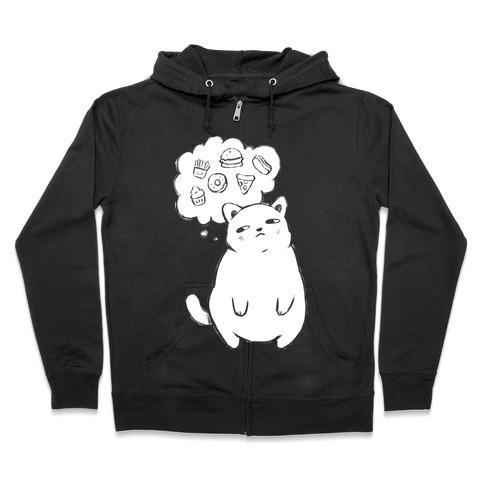 Tubby Cat Food Dreams Zip Hoodie