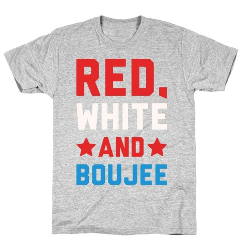 Red White And Boujee White Print T-Shirt