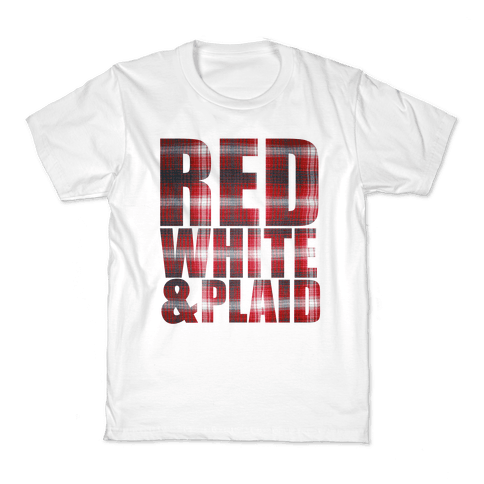 Red White and Plaid Kids T-Shirt