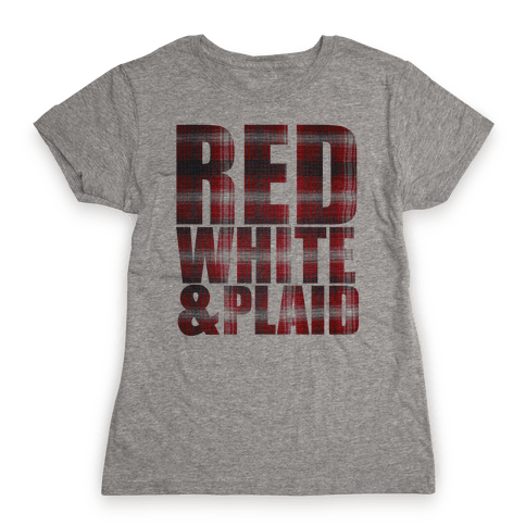 Red White and Plaid Womens T-Shirt