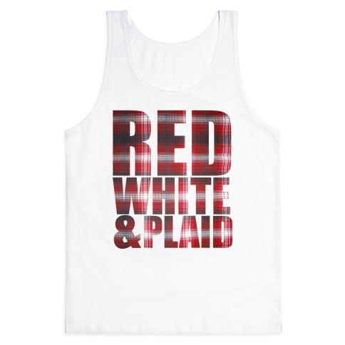 Red White and Plaid Tank Top