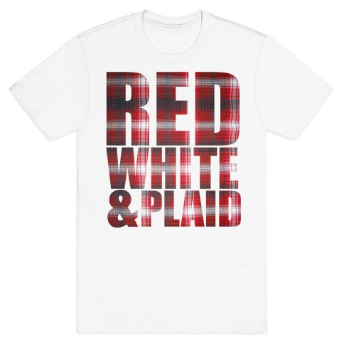 Red White and Plaid T-Shirt