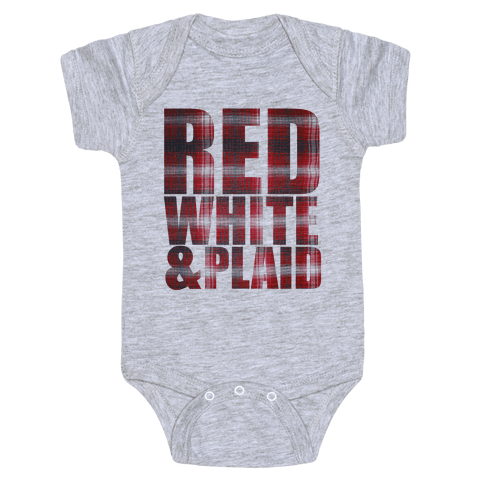 Red White and Plaid Baby Onesy