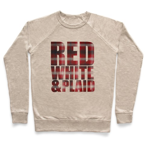 Red White and Plaid Pullover
