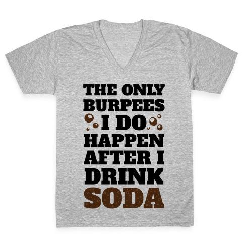 Soda Burpees V-Neck Tee Shirt