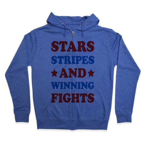 Stars Stripes And Winning Fights Zip Hoodie