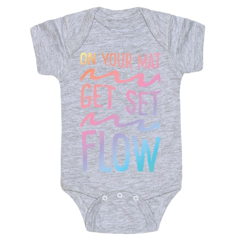 On Your Mat Get Set Flow Yoga Baby Onesy