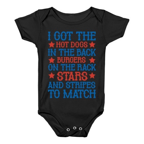 Old Town Road Fourth of July Parody White Print Baby Onesy