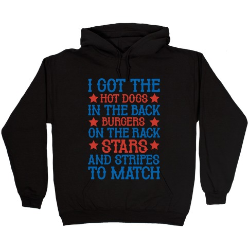 Old Town Road Fourth of July Parody White Print Hooded Sweatshirt