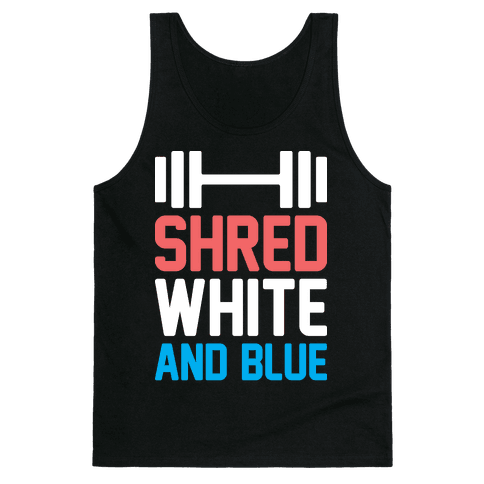 Shred White And Blue Tank
