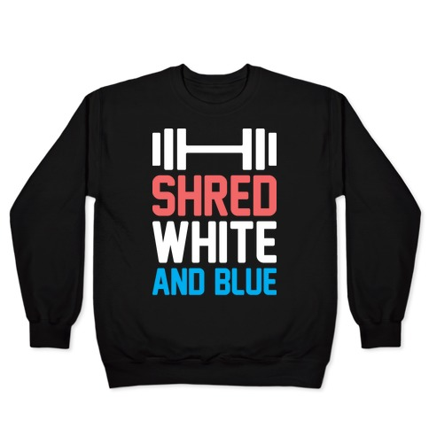 Shred White And Blue Pullover
