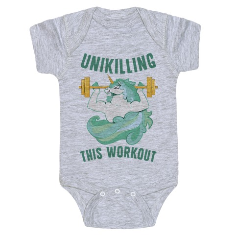 Unikilling This Workout Baby Onesy