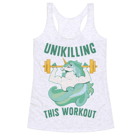 Unikilling This Workout Racerback Tank Top