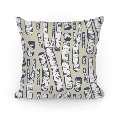 Birch Tree Cuttings Pattern Pillow