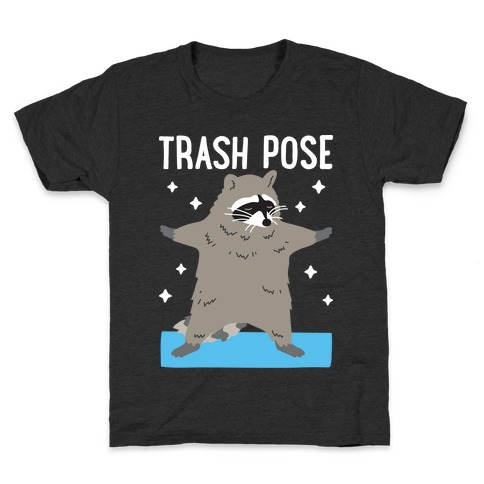 Trash Pose Raccoon Kids T-Shirt