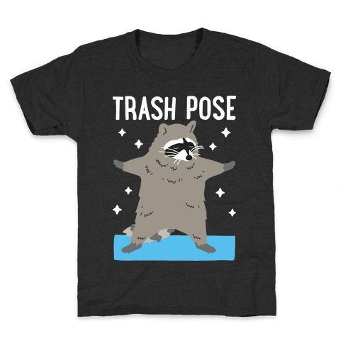 Trash Pose Raccoon Kids T-Shirt