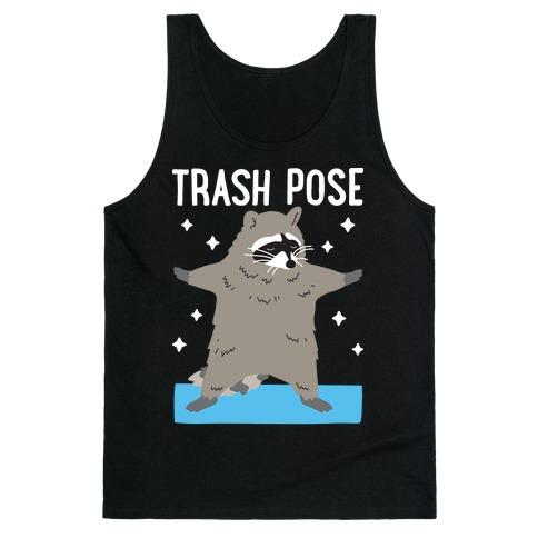 Trash Pose Raccoon Tank Top