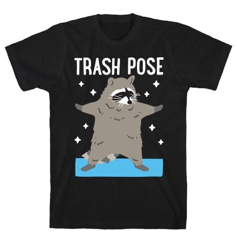 Trash Pose Raccoon Mens/Unisex T-Shirt