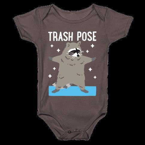 Trash Pose Raccoon Baby One-Piece
