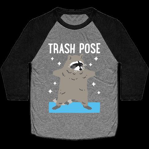 Trash Pose Raccoon Baseball Tee