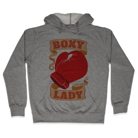 Boxy Lady Hooded Sweatshirt