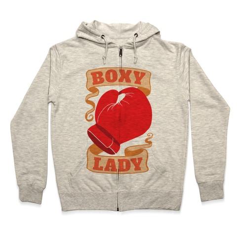 Boxy Lady Zip Hoodie