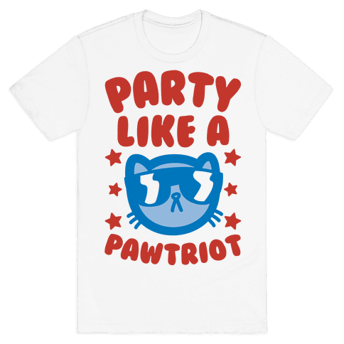 Party Like A Pawtriot Mens T-Shirt